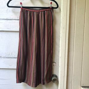 Vintage 70s boho stripe pencil skirt sz XS